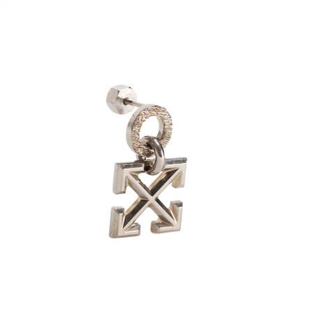 OFF-WHITE Arrow Earring - Silver