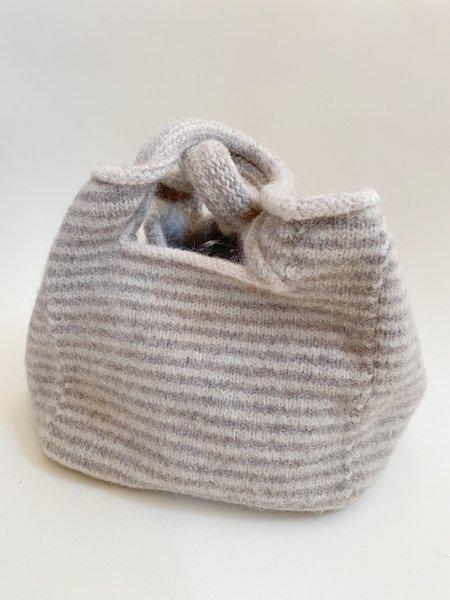 Lauren Manoogian Lines Knit Baby Bag - gray