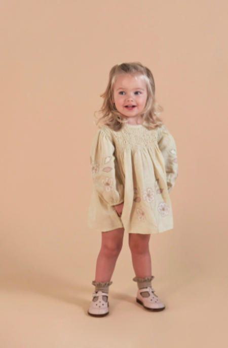 Kids Apolina Noemi Dress - Pale Pear