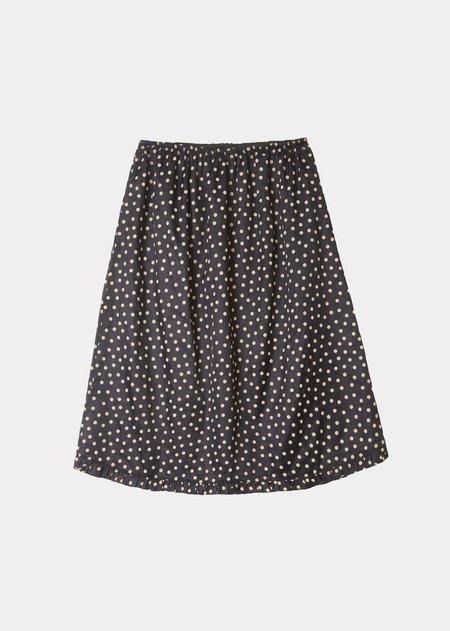 Caramel Frill Skirt - Brown Dot