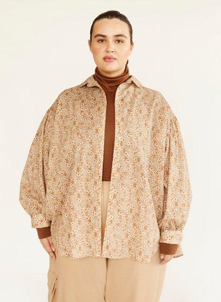 Eliza Faulkner Venti Shirt - Beige Floral
