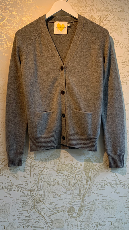 Kerri Rosenthal The Willy Patchwork Cashmere Cardigan - Gray