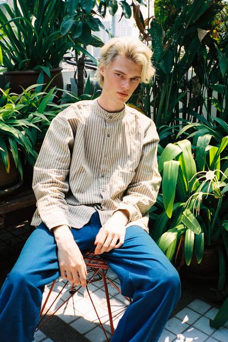 Seeker Studios Poet Shirt No.2 - Neutral Stripes
