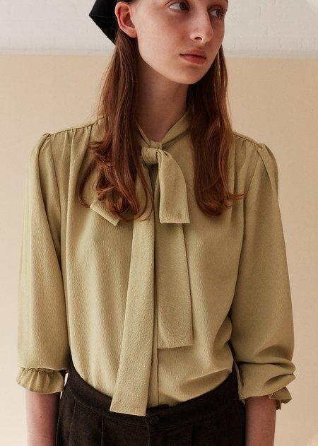 Caramel Bow Shirt - Lime