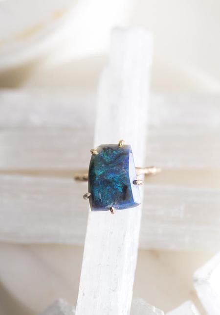 Variance Objects 14k-24k Gold Bold Australian Opal Ring - Gold