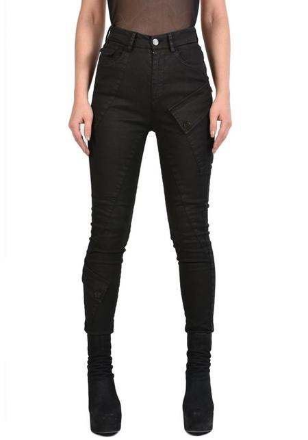 La Haine Fitted High Waist Huit Moto Jeans - Black