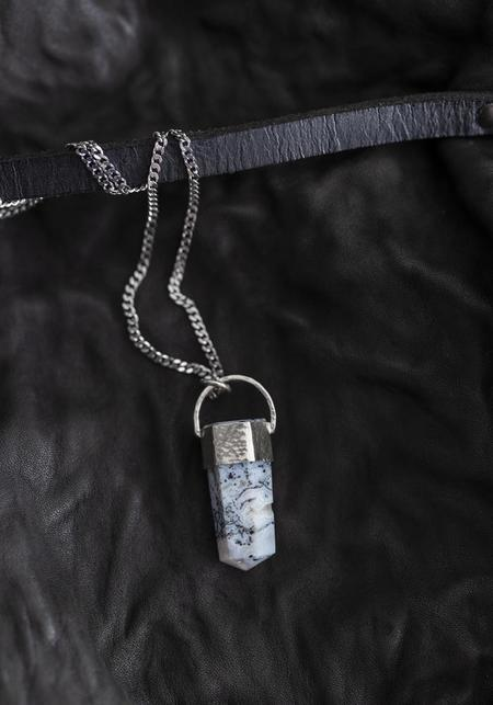 Tita Lopez Merlinite and Sterling Silver Necklace - Silver