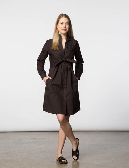 SBJ Austin Lauri Dress - Brown Poplin