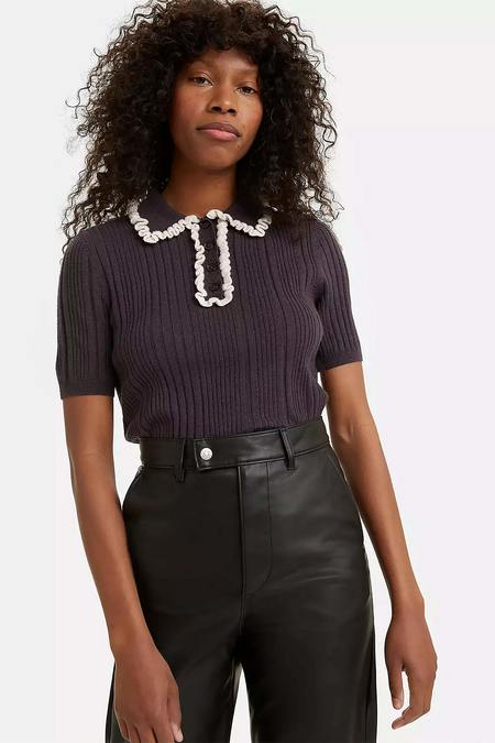 Levi's Short Sleeve Sweater Polo - Obsidian