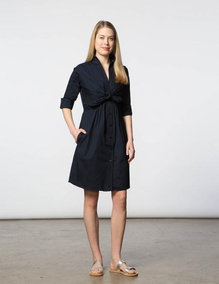 SBJ Austin Lauri Dress - Navy Poplin