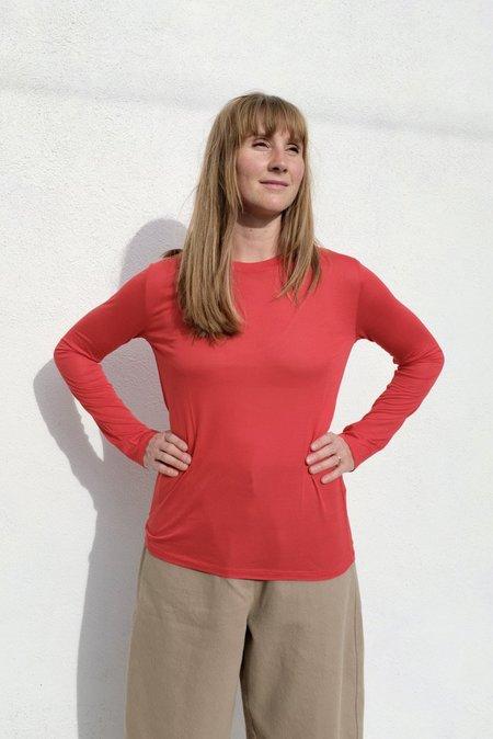 Baserange Long Sleeve Tee - Bamboo Jersey/Yuam Red