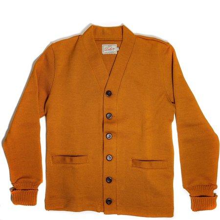 Dehen Classic Wool Cardigan Sweater - Old Gold