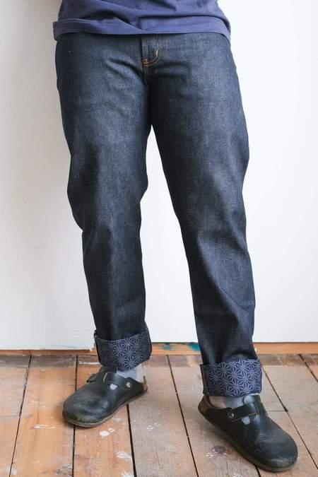 Naked & Famous Weird Guy  Asanoha Kimono Print Selvedge Jeans