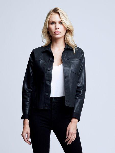 L'agence Janelle Coated Jacket - Black