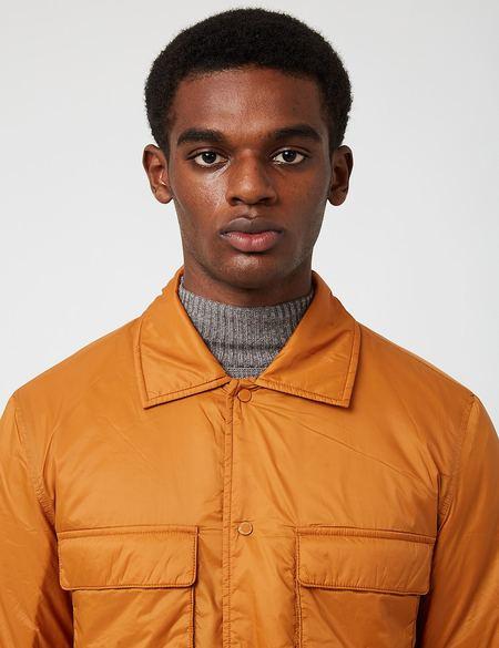 NN07 Columbo Padded Overshirt 8429 - Pumpkin Orange