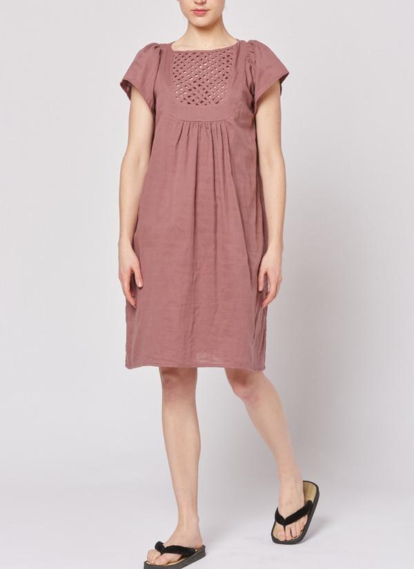 Built by Wendy Lattice Dress - Bordeaux