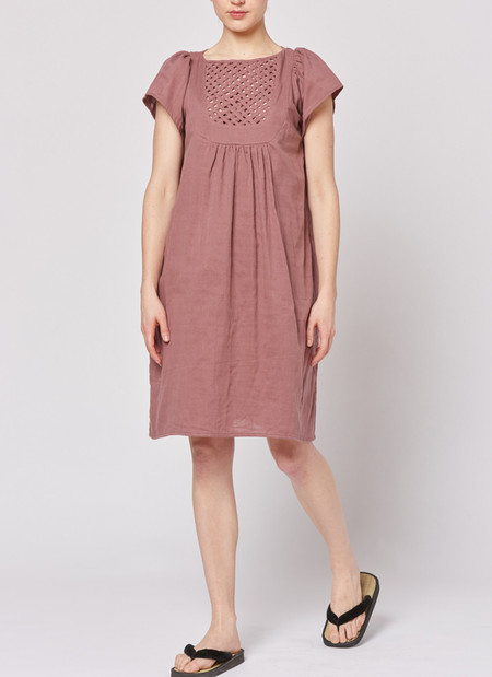 Built by Wendy Lattice Dress - Bordeaux