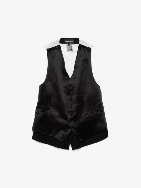 [Pre - Loved] Ann Demeulemeester Male Wool Double Layered Vest -  Black/White