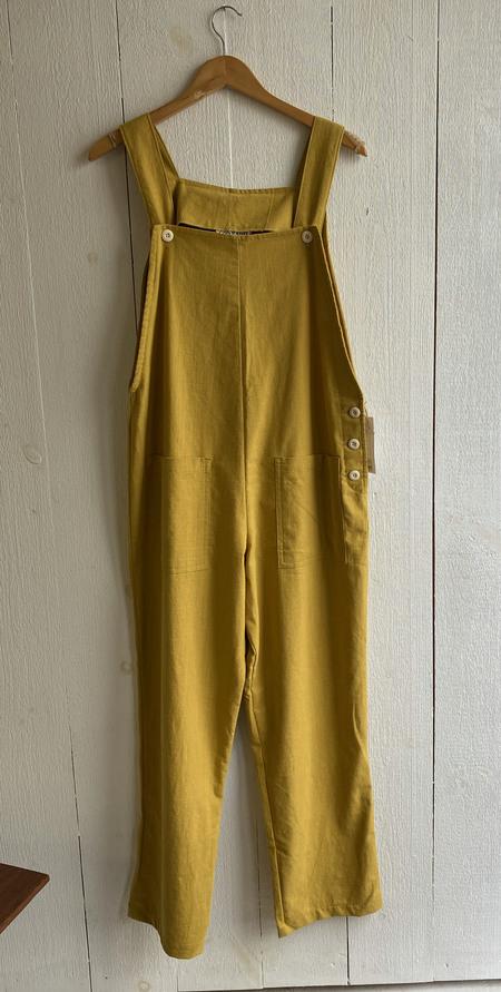 Conrado Nora Cotton/Linen Overalls - Mustard