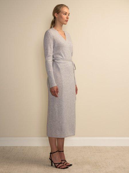 PURECASHMERE NYC Maxi Wrap Dress - Grey