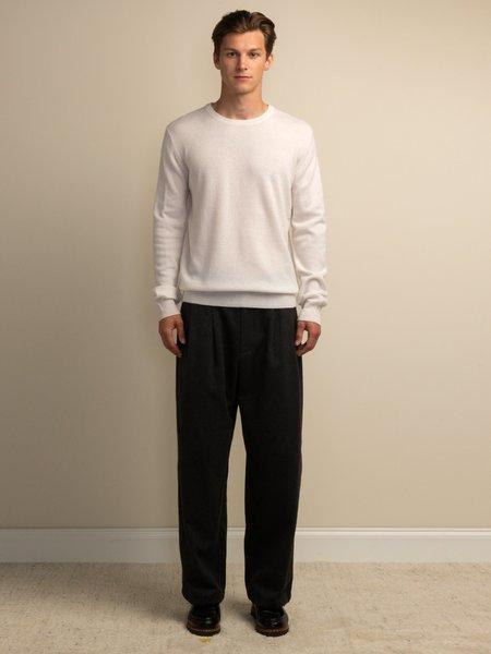 PURECASHMERE NYC Crew Neck Sweater - Vintage White