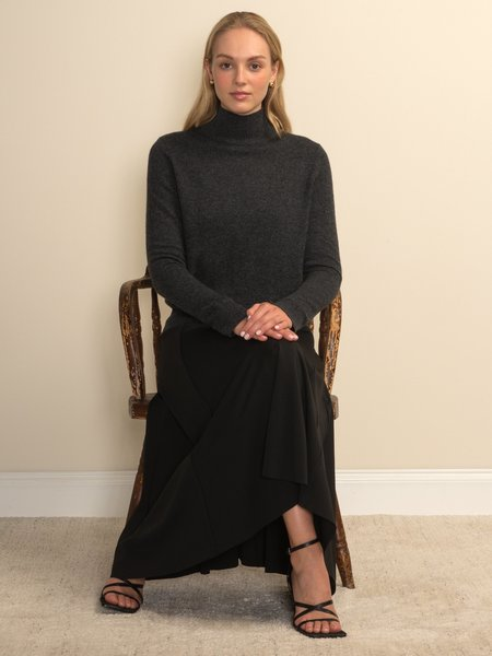PURECASHMERE NYC Simple High Neck Sweater - Graphite