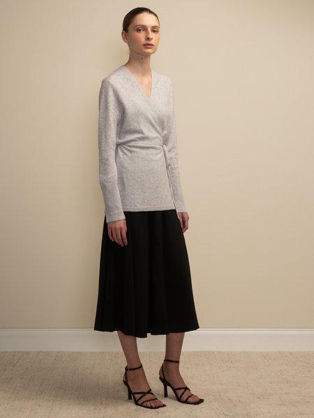 PURECASHMERE NYC Wrap Cardigan - Grey