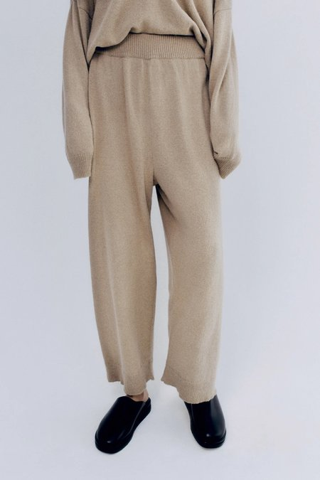 Mónica Cordera Baby Alpaca Pants - Pale Olive