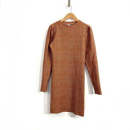 Melow Design Delyla Dress - Terra Cotta Tweed