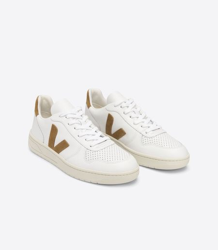 VEJA V-10   Extra sneakers - White/Camel