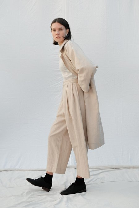 Micaela Greg Pleated Trouser - Sand