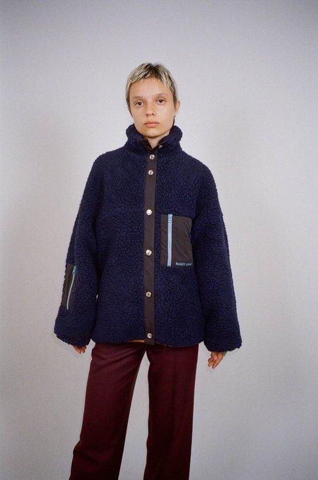 UNISEX Sandy Liang Tooth Fleece jacket - Navy