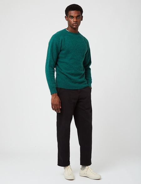 Bhode Supersoft Lambswool Jumper sweater - Green