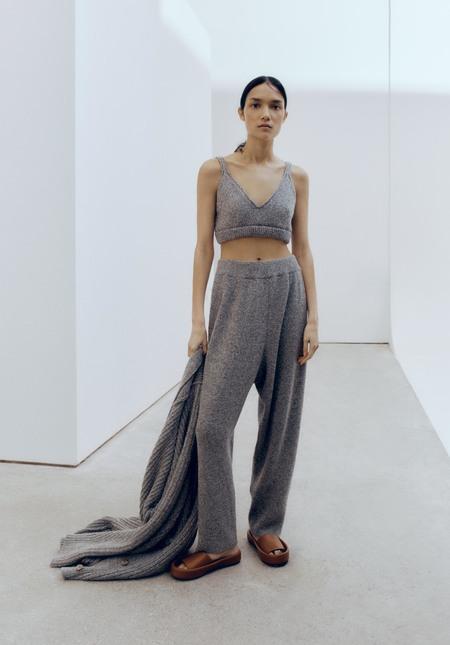 Monica CORDERA FW21 SOFT WOOL PANTS - GREY