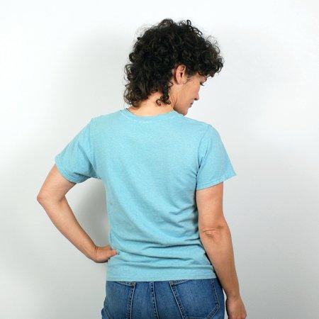 Jungmaven Lorel Crew T Shirt - Ether Blue