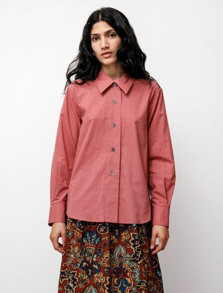 Margaret Howell Broad Placket Shirt - Dark Rose