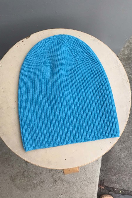 unisex M.Patmos Recycled Cashmere Beanie - Blue