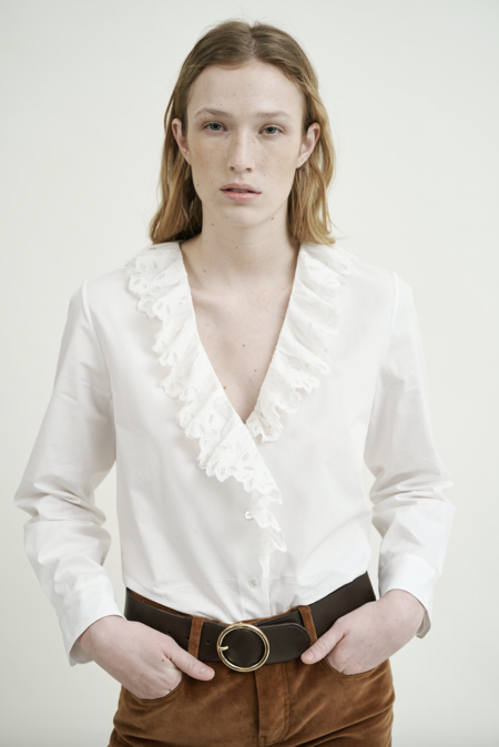 Nili Lotan Everett Shirt - white