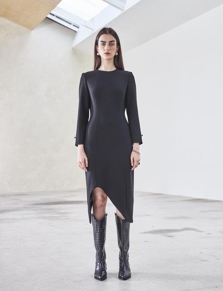 Maison De Ines ASYMMETRIC DRESS - black