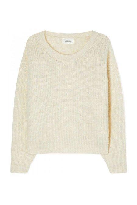American Vintage East Pearl Sweater - Pearl Melange
