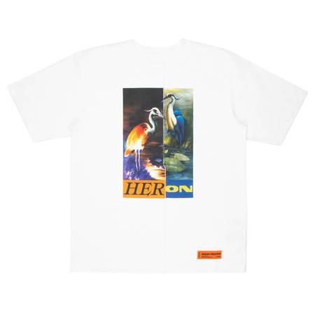 HERON PRESTON OS split Herons t-shirt Men Size L EU
