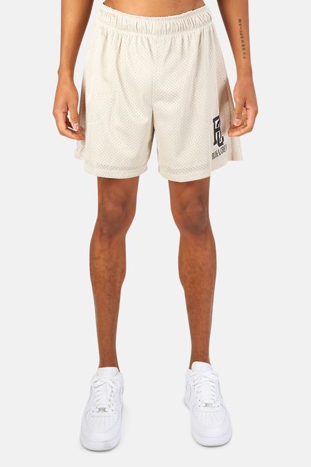 Blue&Cream New York Mesh Shorts - Taupe/Black
