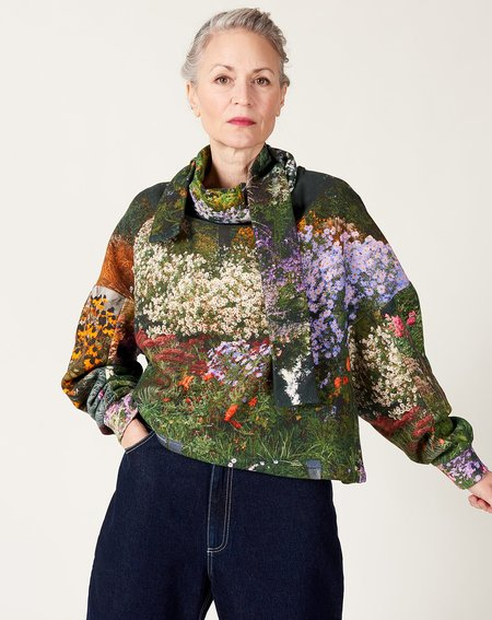 Anntian Short Shawly Sweatshirt - Print H