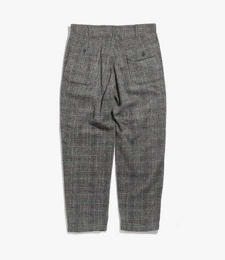 Engineered Garments Carlyle Pant - Grey/Maroon Poly Wool Glen Plaid