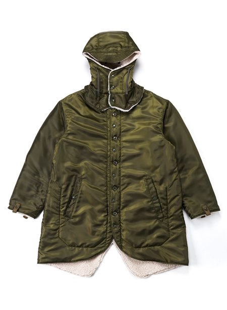 Engineered Garments Liner Jacket - Olive Drab Polyester Pilot Twill