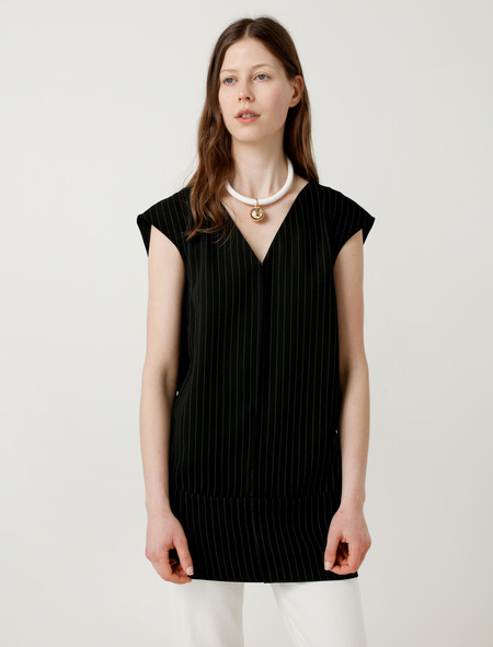 MM6 by Maison Margiela Pinstripe Tunic Black