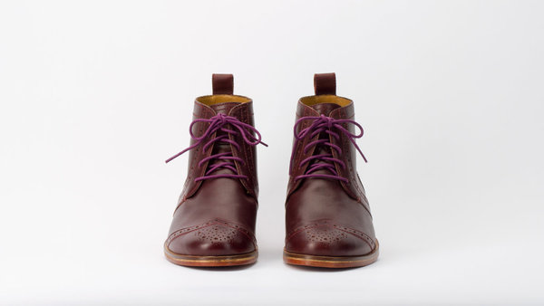 J Shoes Cobblestone Wingtip Boots