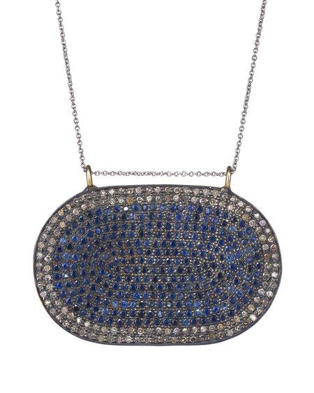 LERA Jewels Classic Oval necklace - Sapphire/Diamond