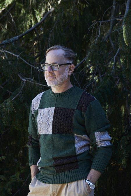 Country of Origin X Bergdorf Goodman #3 sweater - Green/Cream/Black