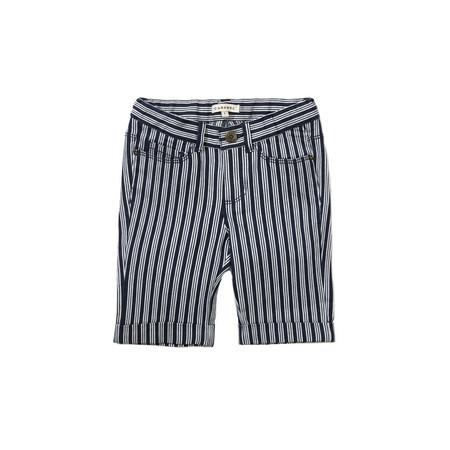 Kids unisex Caramel Collard Skinny Short - Navy Stripe